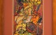 Przybysze (2001) akryl, karton, 31 x 18 cm (w świetle passe-partout), 49 x 34 (z oprawą)