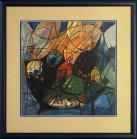 Drapieżnik (2008) akryl, karton, 39 x 39 cm (w świetle passe-partout), 57,5 x 57 cm (z oprawą)