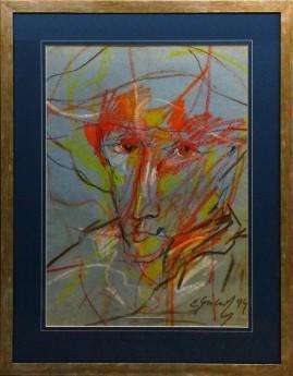 Portret malarza (1994) pastel, karton, 66 x 46 cm / 90 x 70 cm [z oprawą]