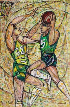 Koszykarze II (2011), 150 x 100cm