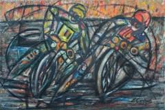 Żużlowcy 1 (1979), 100 x 150 cm
