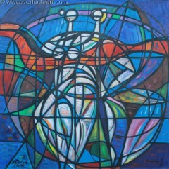 Błękitny balet (2006), 125 x 125 cm