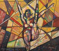 Ćwicząca na równoważni (2010), 100 x 116 cm