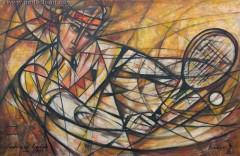 Tenisista (2009), 80 x 123 cm