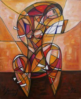Akt z lusterkiem, 2013 olej, płótno, 73 x 60 cm