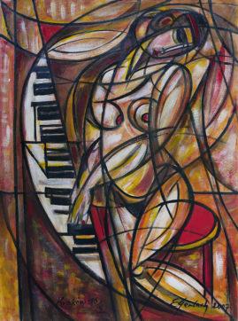 Poranna etiuda, 2007 olej na płótnie, 100 x 70 cm