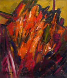 Wezuwiusz, 1976, olej na płycie, 70 x 60 cm