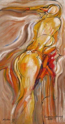 Akt 2000, 2000, olej na płycie, 74 x 39,5 cm