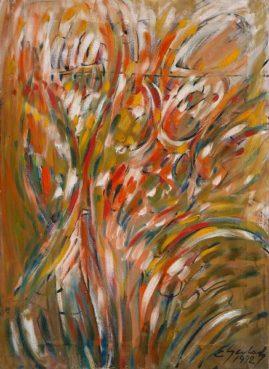 Jesienna impresja, 1992, olej na płótnie, 49 x 67 cm