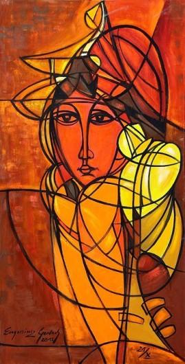 Madame Butterfly (2012) olej, płótno, 122 x 63 cm