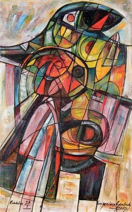 Wspomniernie z Troi II (2007) olej, płótno, 88 x 55 cm