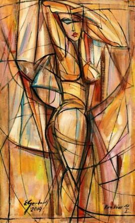 Akt (2014), olej, płótno, 71 x 44,5 cm