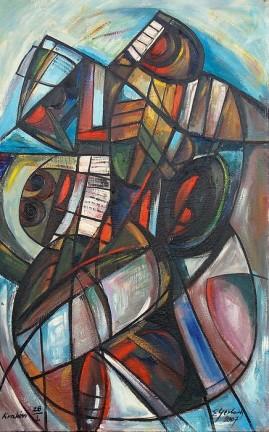 Wspomnienie z Troi I (2007) olej, płótno, 88 x 55 cm
