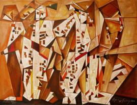 Kwartet - 09, 2009 olej, płótno 116,5 x 150 cm