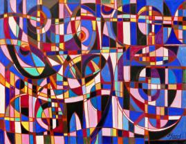 Kompozycja kilimowa - 012, 2012 olej,płótno 116,5 x 150 cm