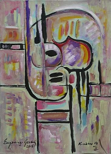 Martwa natura muzyczna III, 2015 olej, akryl, 71 x 51 cm