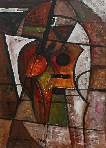 Martwa natura muzyczna I, 1986 olej, akryl, 71 x 51 cm