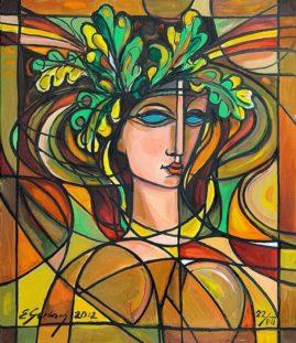Dziewczyna z dębowego wzgórza, 2012 olej, płótno, 60 x 70 cm