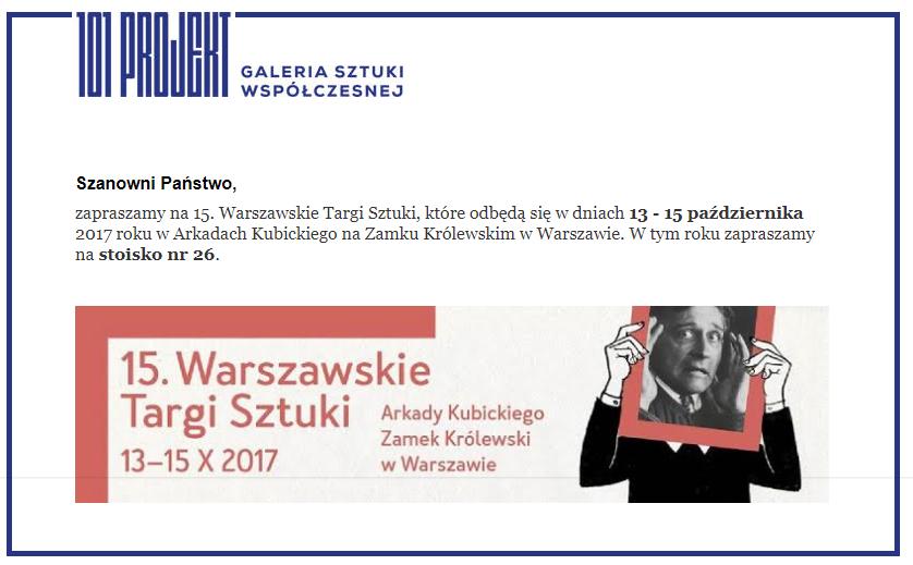 Warszawskie Targi Sztuki 2017 - Arkady Kubickiego