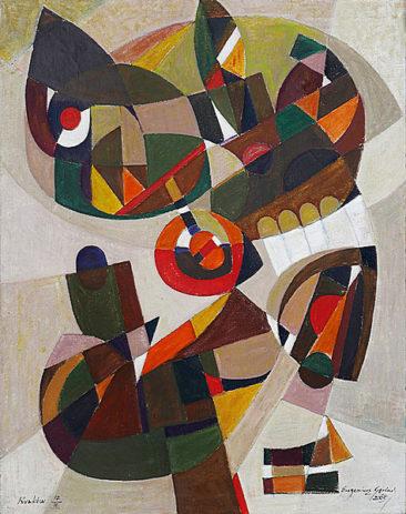 KOMPOZYCJA SYNTETYCZNA 05, 2005 olej/płótno, 150 x 120 cm