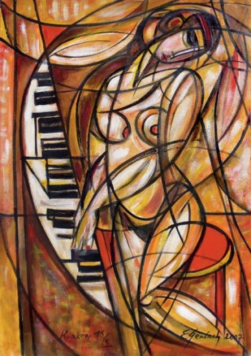 Poranna etiuda, 2007 olej, płótno, 100 x 70 cm