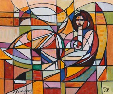 Akt 013, 2013 olej, płótno, 60 x 73 cm