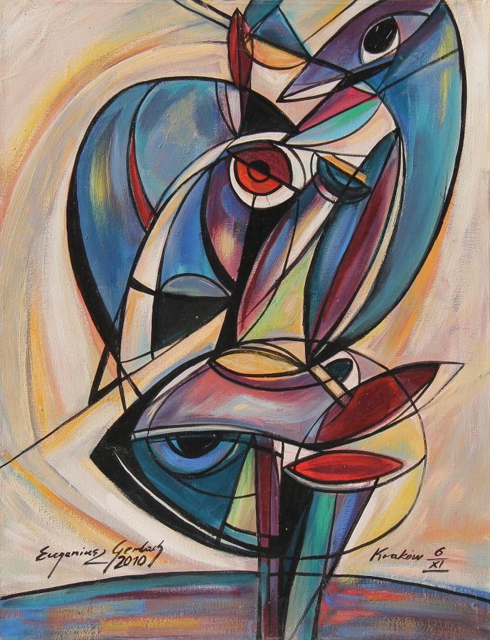 Spojrzenie (2010) olej, płótno, 70 x 54 cm