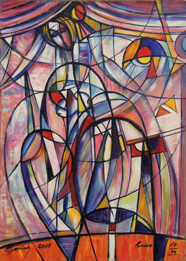 Infantka 2010 (2010) olej, płótno, 84 x 60 cm