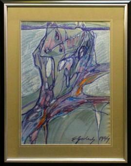 Ażurowy portret (1994) pastel, karton, 66 x 46 cm / 90 x 70 cm [z oprawą]