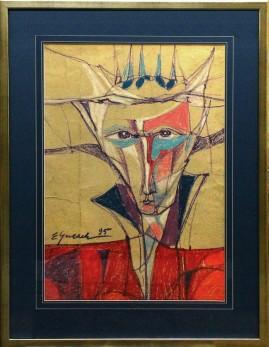 Człowiek z gwiazd (1995) pastel, karton, 66 x 46 cm / 90 x 70 cm [z oprawą]
