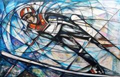 Orzeł z Wisły (2009), 100 x 150 cm