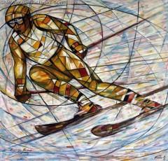 Zjazdowiec (2009), 125 x 125 cm