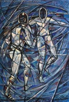 Szermierka (2007), 150 x 100 cm