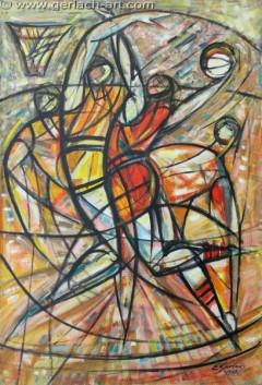 Koszykarze 1 (1987), 150 x 100 cm