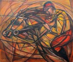 Jazda konna (2010), 100 x 116 cm