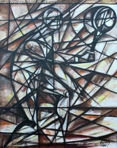 Tenisista 1 (1986), 100 x 80 cm