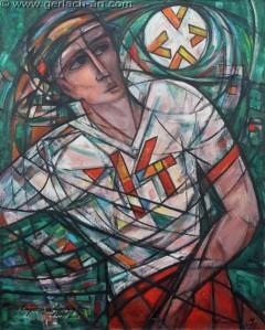 Napastnik(2010), 100 x 80 cm