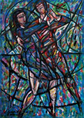 Tango, 2014 olej na płótnie, 100 x 70 cm