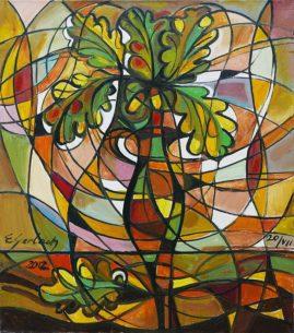 Dębowy dzban, 2012 olej, płótno, 70 x 60 cm