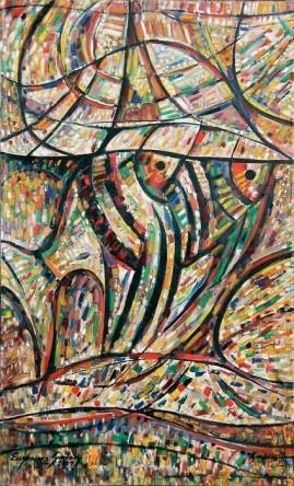 Skalary 01 (2001)  olej, płótno, 130 x 80 cm