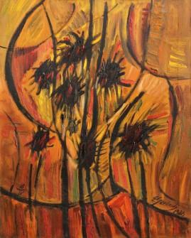 Osty (1986)  olej, płótno, 72 x 58 cm
