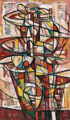 Tango (1998) olej, płótno, 85,5 x 50,5 cm