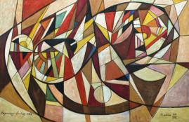 Kompozycja symfoniczna, 2009 olej, płótno 115 x 170 cm