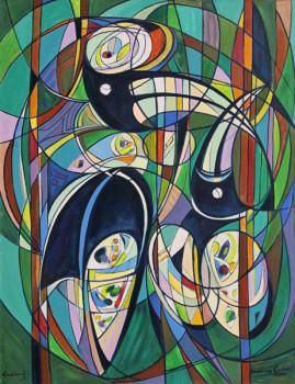 Tukany, 2001 olej, płótno 150 x116,5 cm