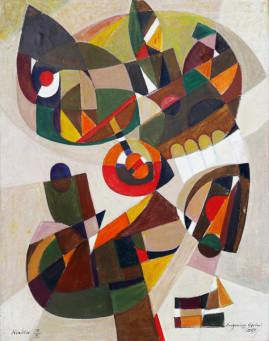Kompozycja syntetyczna, 2005 olej, płótno 120 x 100 cm