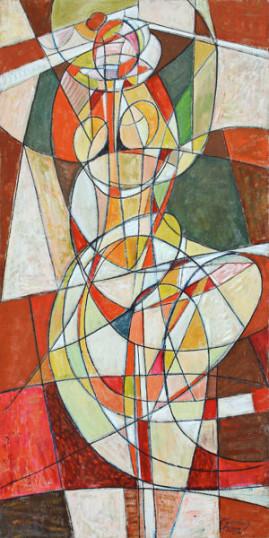 Baletnica, 2003 olej, płótno 198 x 100 cm