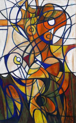 Jesienny Akt, 2002 olej, płótno 180 x 110 cm