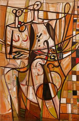 Duet 06, 2006 olej, płótno 150 x 100 cm