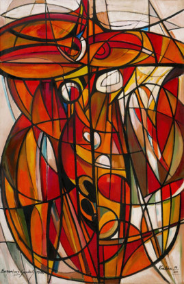 Ikar, 1986 olej, płótno 150 x 100 cm
