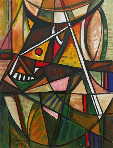 Martwa natura z głową byka, 2005 olej, akryl, 88 x 67 cm